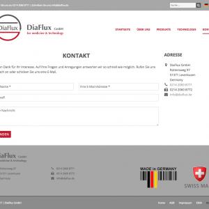 diaflux.de: kontakt