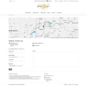 Webentwicklung: marceletoile.com - kontak