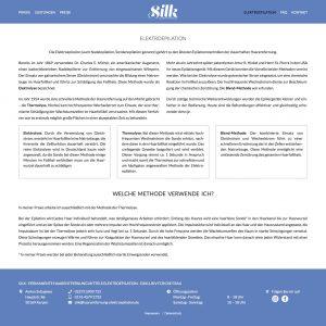 Webentwicklung: haarentfernung-elektroepilation.de - elektroepilation