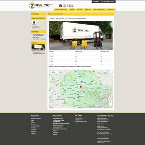 Suchmaschinenoptimierung (SEO) für Brennholzhandel Zeus Ruhr GmbH, Liefergebiet