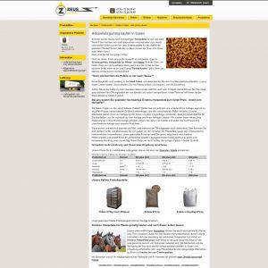 Suchmaschinenoptimierung (SEO) für Brennholzhandel Zeus Ruhr GmbH, Pellets