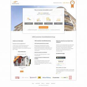 Webentwicklung: www.meine-immobilie-kostenlos-bewerten.de